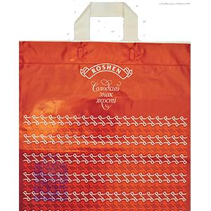 Пакет Петля, пакет із петльовою ручкою, верхнім підворотом та з М-закладкою в дні, артикул ПП 01